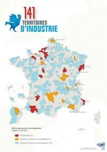 Carte des 141 Territoires d'industrie